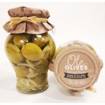 Don Gastronom Gordal olívabogyó hagymával olívaolajban, 580g/300g