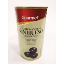 Gourmet magozott fekete olívabogyó konzerv, 350g/150g