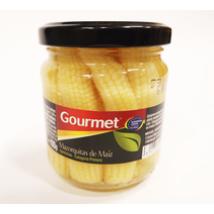 Gourmet üveges bébikukorica, 170g/100g