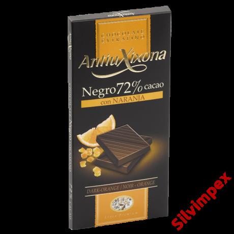 Antiu Xixona gluténmentes 72%-os étcsokoládé naranccsal, 100 g